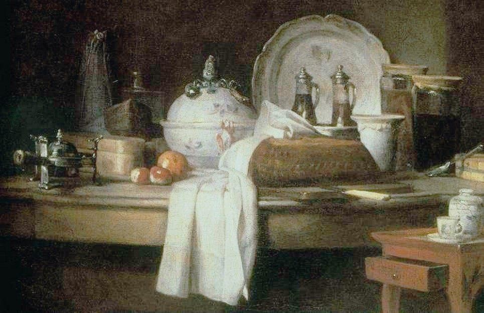 The Butler's Table :: Jean-Baptiste-Simeon Chardin - Still life фото