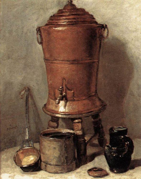 The Copper Drinking Fountain :: Jean-Baptiste-Simeon Chardin - Still life фото