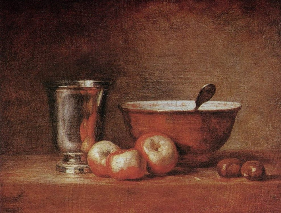 The Silver Cup :: Jean-Baptiste-Simeon Chardin - Still life фото
