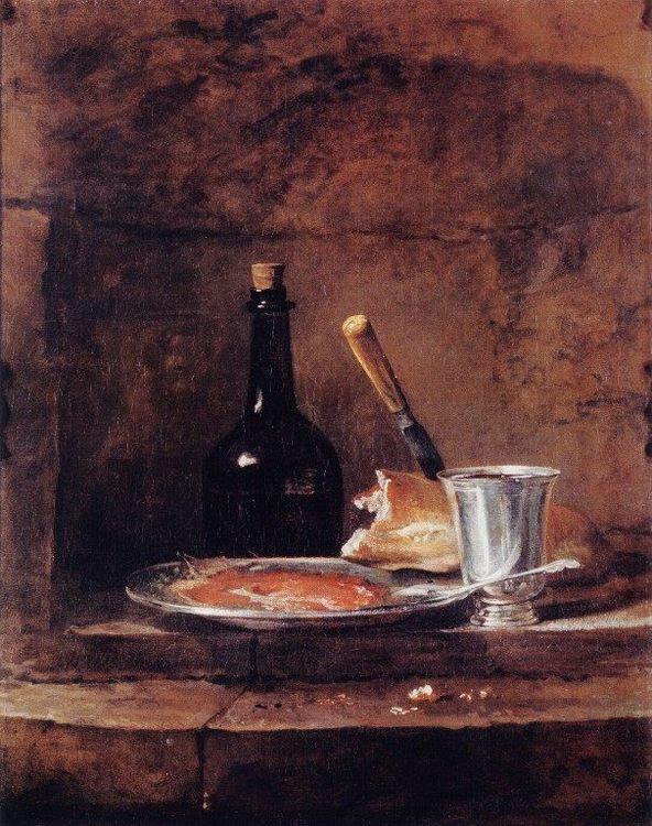 The Silver Goblet  :: Jean-Baptiste-Simeon Chardin - Still Lifes ôîòî