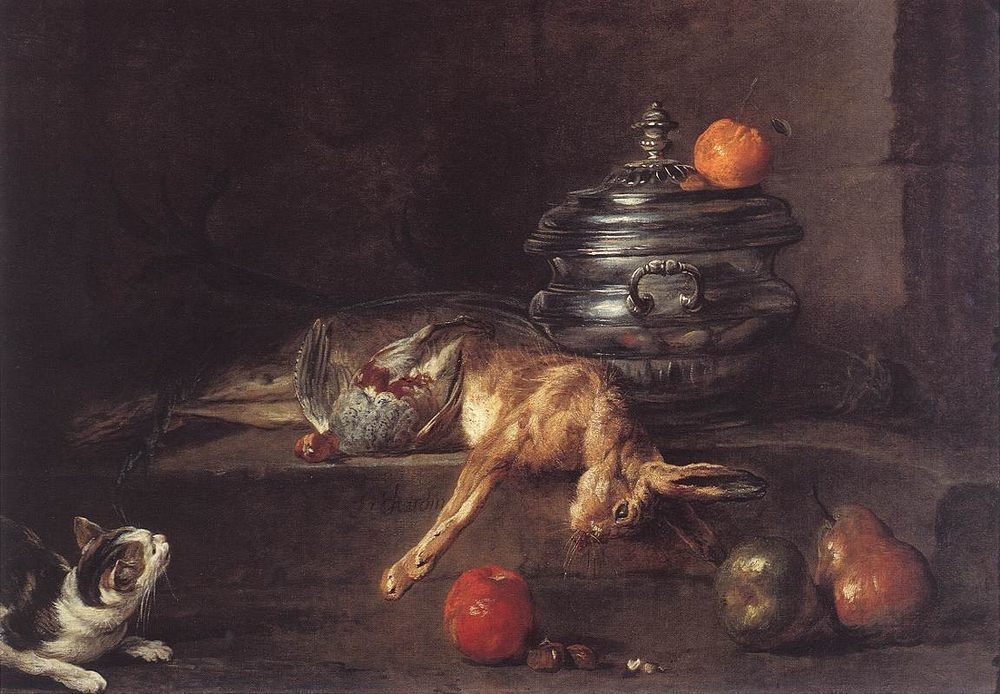 The Silver Tureen :: Jean-Baptiste-Simeon Chardin -  фото