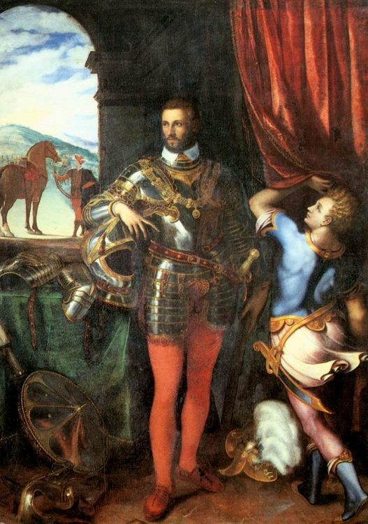 Portrait of Ottavio Farnese :: Giulio Campi - men's portraits 16th century ôîòî