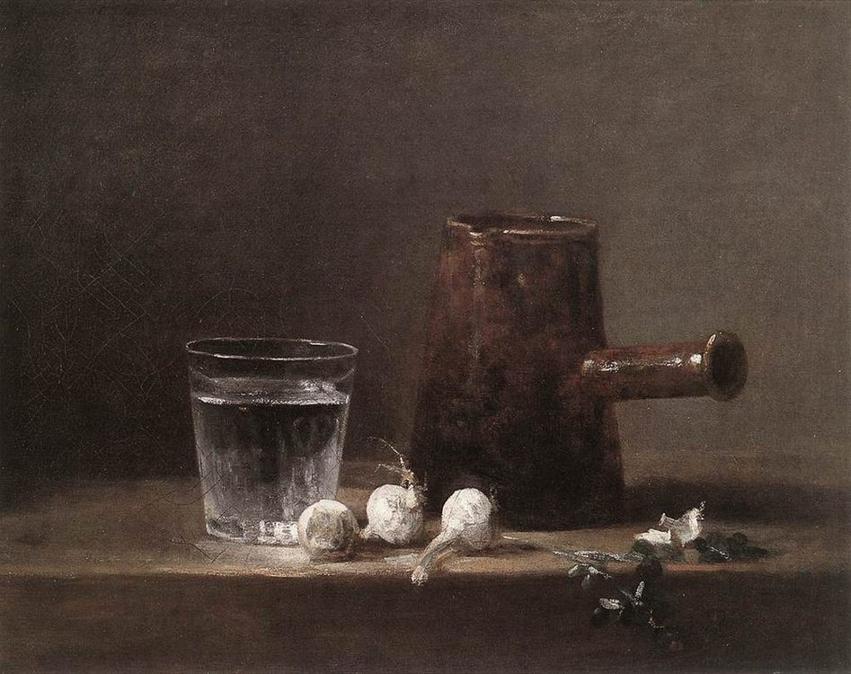 Water Glass and Jug :: Jean-Baptiste-Simeon Chardin -  фото