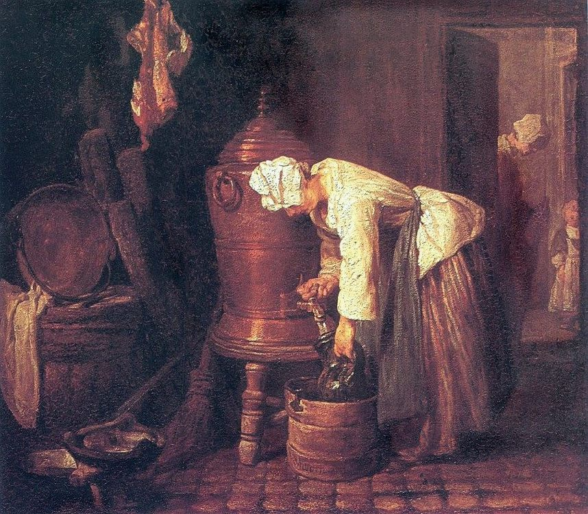 Woman at the Water Cistern :: Jean-Baptiste-Simeon Chardin - Still life фото
