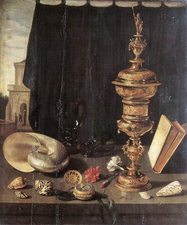 Still Life with Great Golden Goblet :: Pieter Claesz - Still Lifes ôîòî
