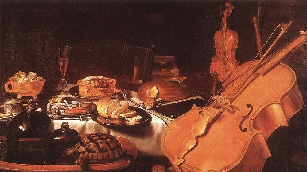 Still Life with Musical Instruments :: Pieter Claesz - Still Lifes ôîòî
