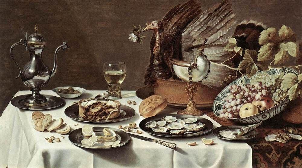 Still Life with Turkey Pie :: Pieter Claesz -  фото