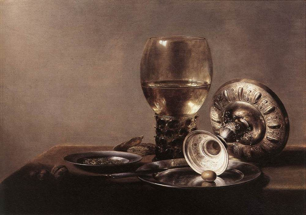 Still Life with Wine Glass and Silver Bowl :: Pieter Claesz -  фото