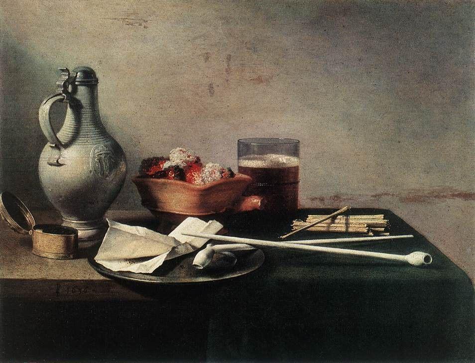 Tobacco Pipes and a Brazier :: Pieter Claesz - Still Lifes ôîòî