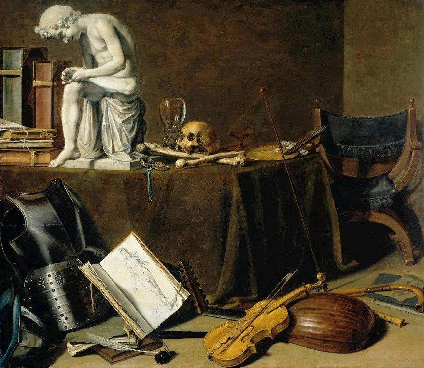 Vanitas Still Life with the Spinario :: Pieter Claesz - Still life фото
