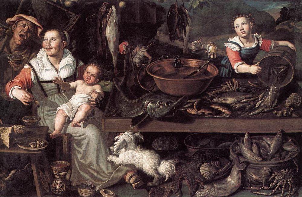 Fishmongers :: Vincenzo Campi  - Still life фото