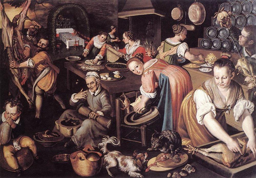 Kitchen :: Vincenzo Campi - Still life фото