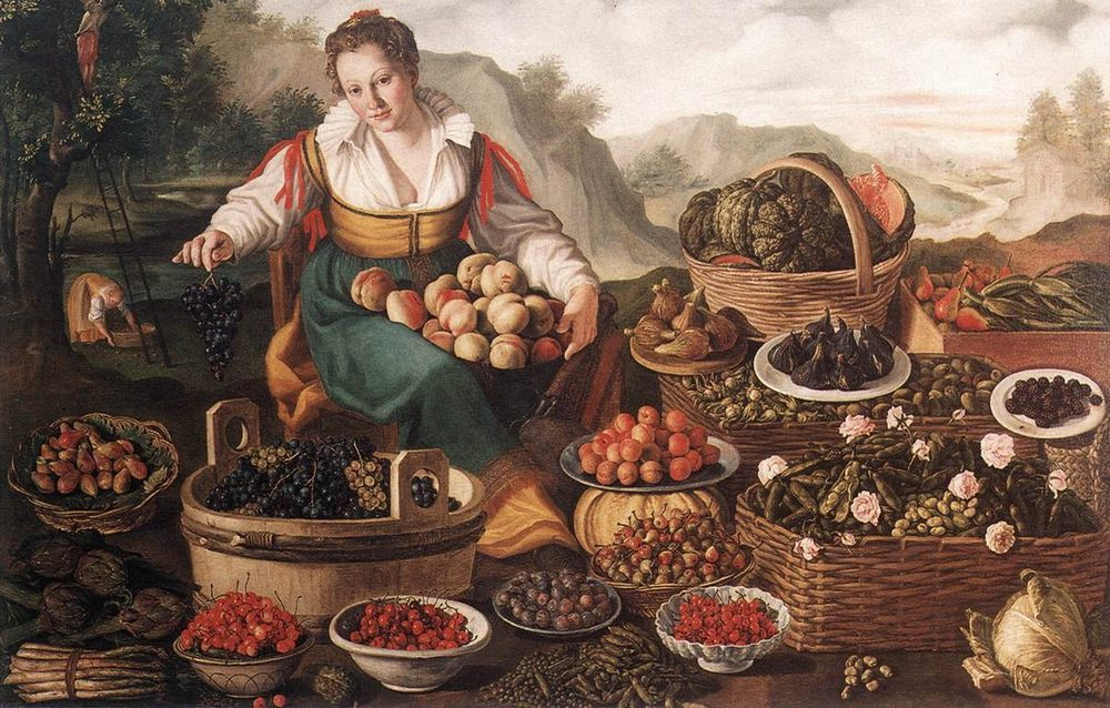 The Fruit Seller :: Vincenzo Campi -  ôîòî