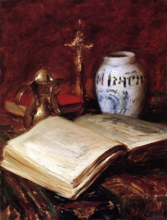 The Old Book :: William Merritt Chase - Still life фото