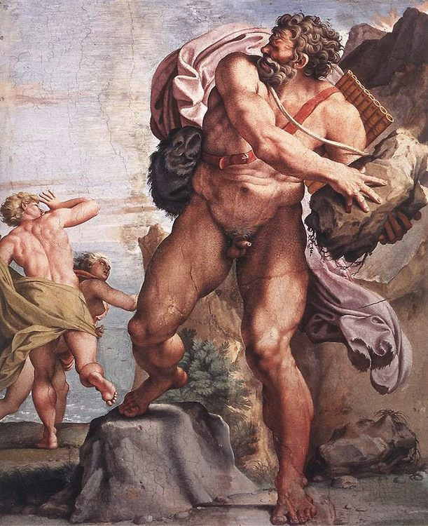 The Cyclops Polyphemus :: Annibale Carracci - nu art in mythology painting ôîòî