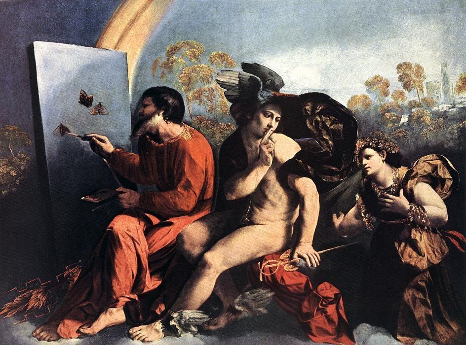 Jupiter, Mercury and the Virtue :: Dosso Dossi - mythology and poetry ôîòî