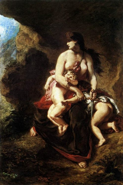 Medea about to Kill her Children :: Eugene Delacroix - mythology and poetry ôîòî