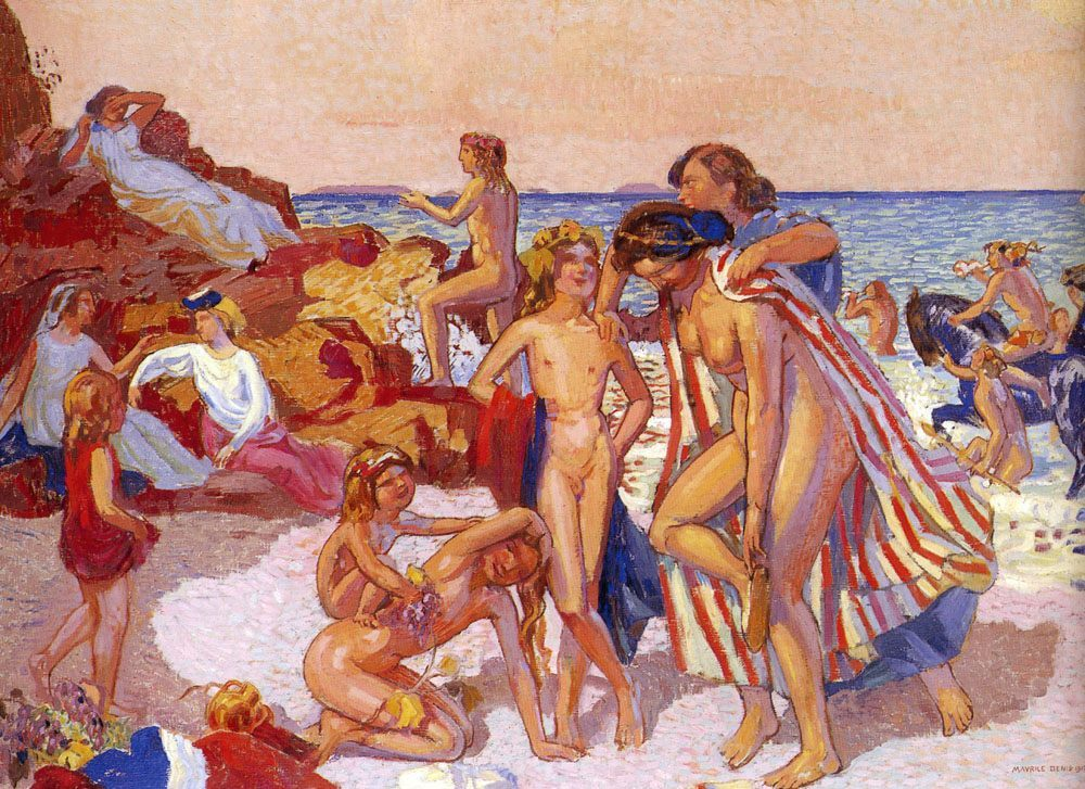 Bacchus And Adriadne :: Maurice Denis - nu art in mythology painting фото