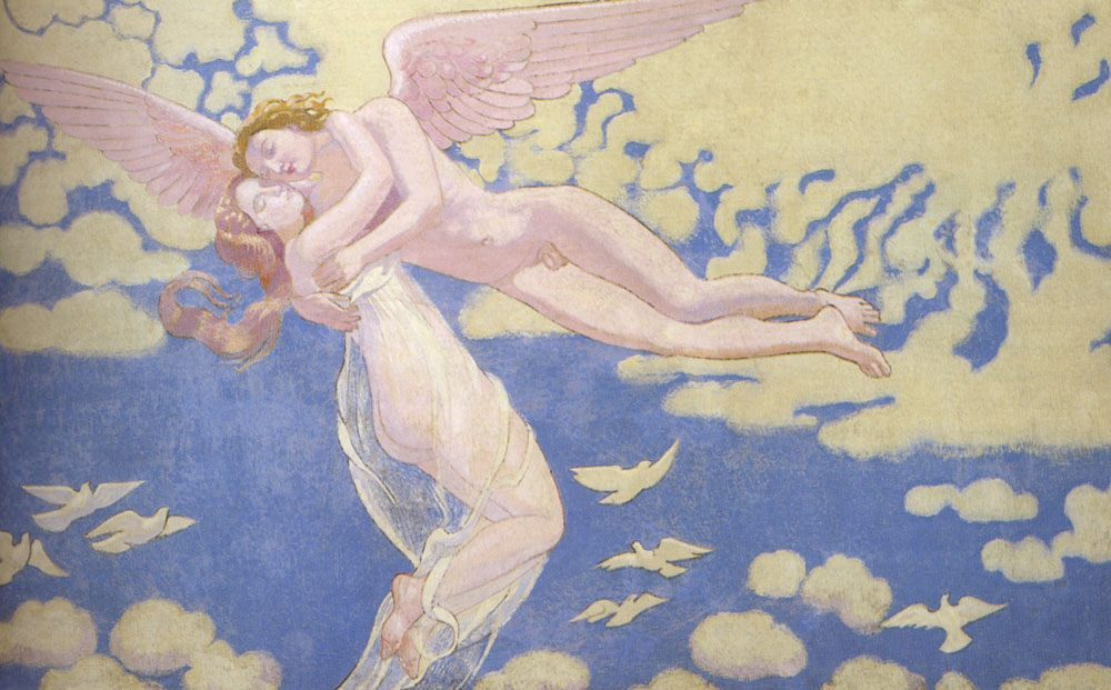 Cupid Carries Psyche To The Heaven :: Maurice Denis - nu art in mythology painting фото
