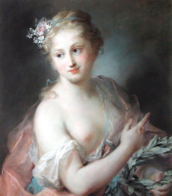 Nymph from Apollos Retinue :: Rosalba Carriera - nu art in mythology painting ôîòî