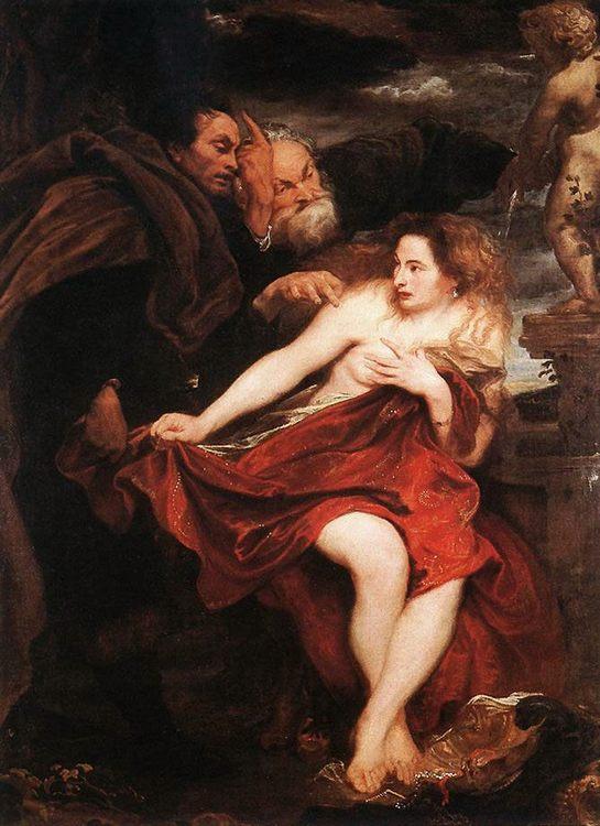 Susanna and the Elders :: Sir Antony van Dyck - nu art in mythology painting фото