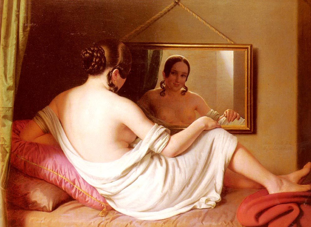 A Woman Before A Mirror :: Anton Einsle - Nu in art and painting фото