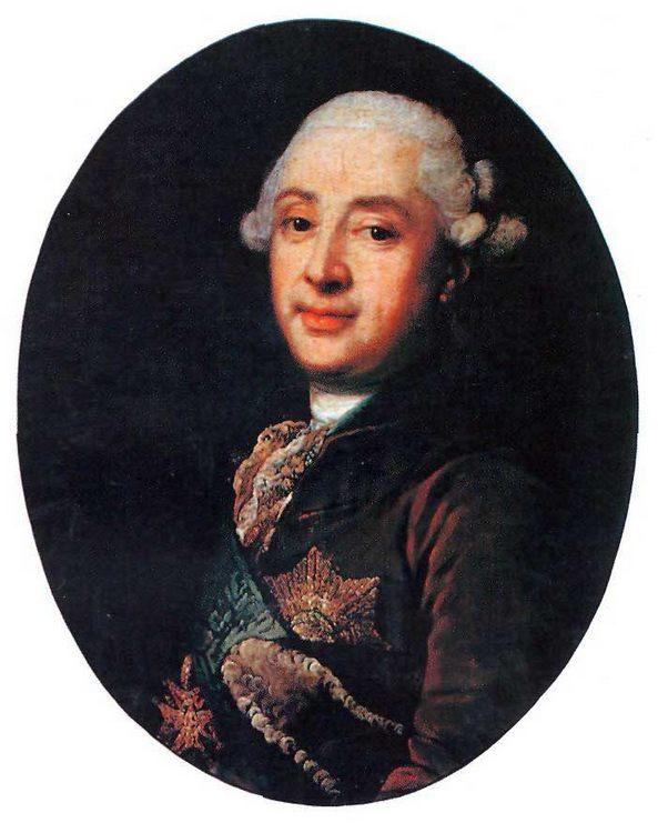 Portrait of prince A.M. Golitsyn :: Vigilius Eriksen - men's portraits 18th century фото