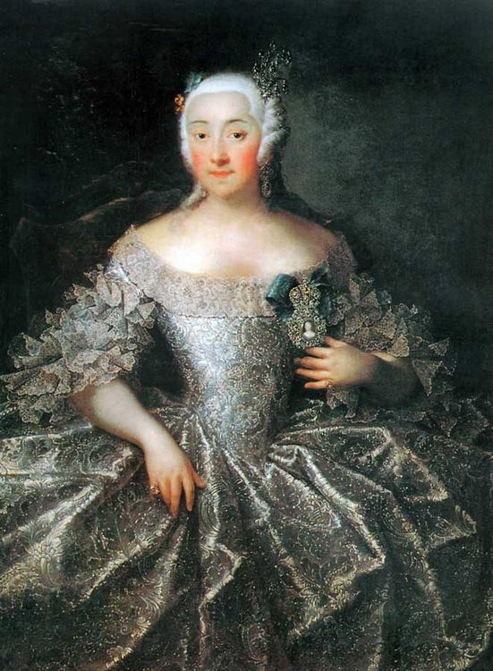 Portrait of countess V.A. Sheremeteva :: Grooth Georg Christoph - 4 women's portraits 18th century hall фото