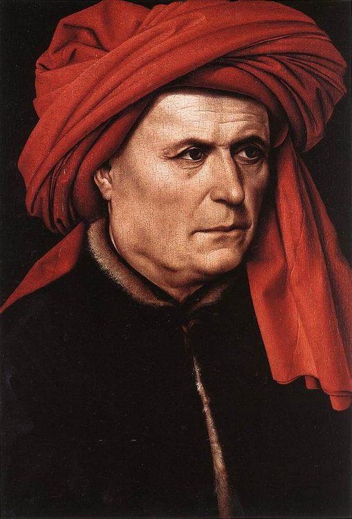 Portrait of a Man :: Robert Campin  - men's portraits 15th century hall фото