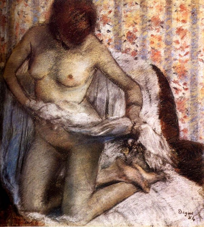 After The Bath :: Edgar Degas  - Nu in art and painting фото