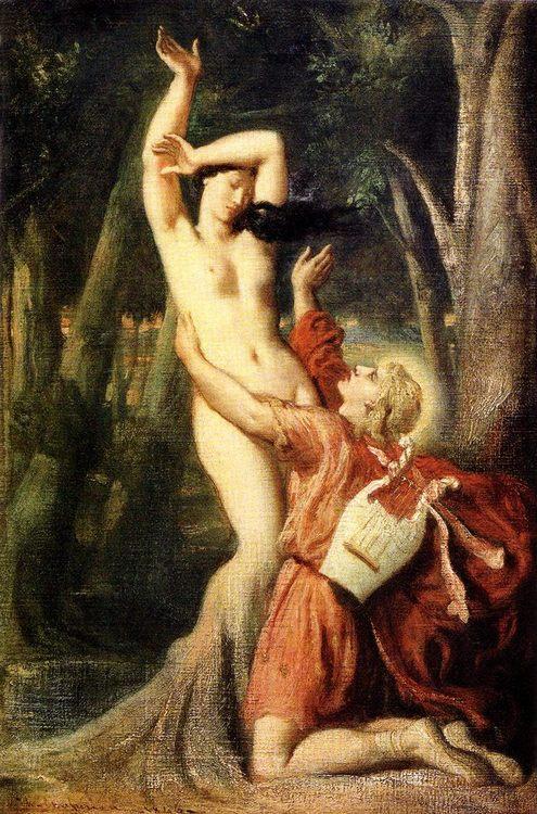 Apollo and Daphne :: Thiodore Chassiriau - nu art in mythology painting ôîòî