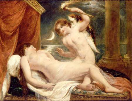 Cupid and Psyche :: William Etty  - nu art in mythology painting фото