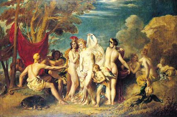The Judgement of Paris :: William Etty - nu art in mythology painting фото