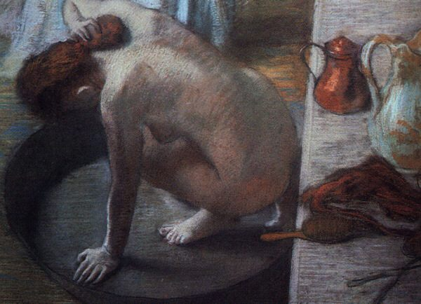 The Tub Pastel on cardboard :: Edgar Degas - Nu in art and painting фото