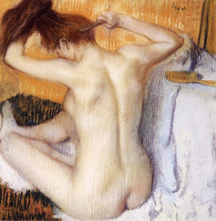 Woman Combing Her Hair :: Edgar Degas - Nu in art and painting фото