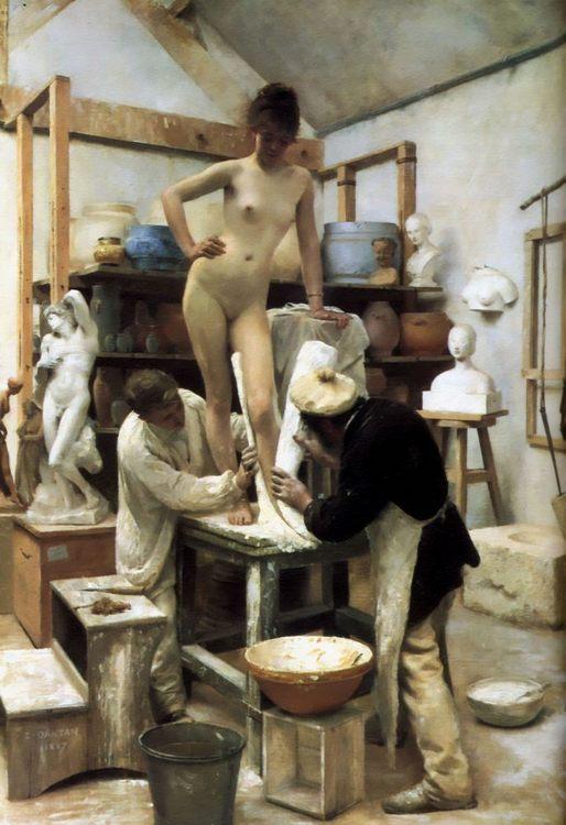 A Casting from Life :: Edouard Dantan - Nu in art and painting ôîòî