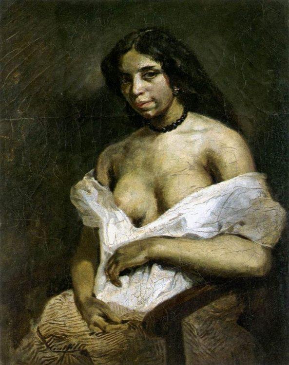 Aspasia :: Eugиne Delacroix - Nu in art and painting ôîòî