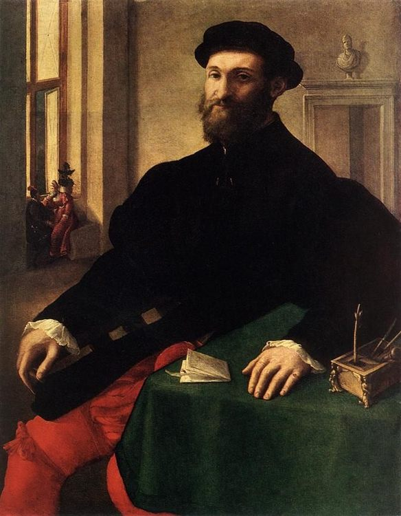 Portrait of a Man :: Giulio Campi - men's portraits 16th century фото