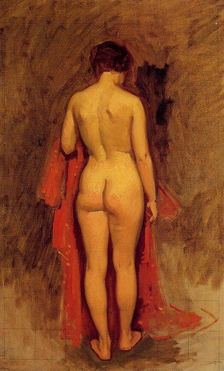 Nude Standing  [ Female back ] :: Frank Duveneck - Nu in art and painting ôîòî