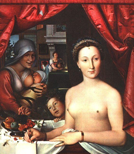 Diane de Poitiers Wood :: Franzois Clouet  - Nu in art and painting ôîòî