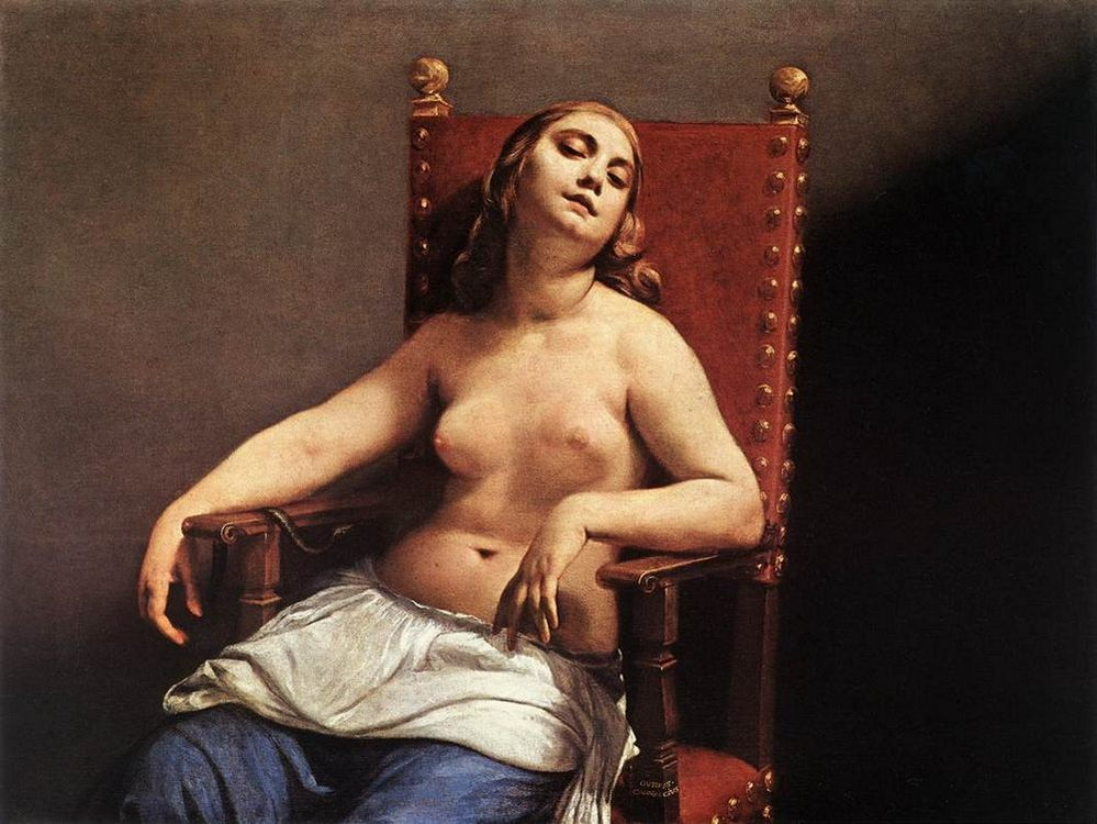 The Death of Cleopatra :: Guido Cagnacci  - Nu in art and painting фото