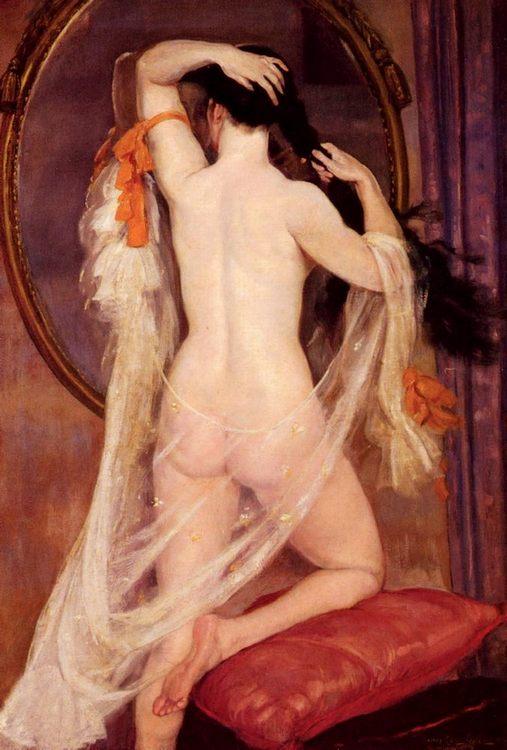 Nu Au Miroir :: Henry Caro-Delvaille - Nu in art and painting ôîòî