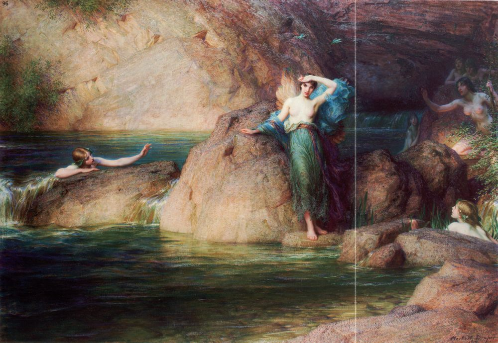 Halcyone :: Herbert James Draper - Nu in art and painting фото