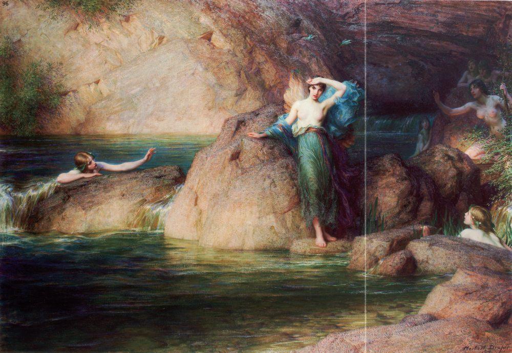 Halcyone :: Herbert James Draper - Nu in art and painting ôîòî