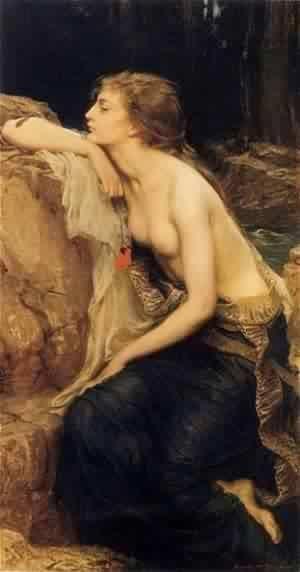 Lamia :: Herbert James Draper - nu art in mythology painting ôîòî