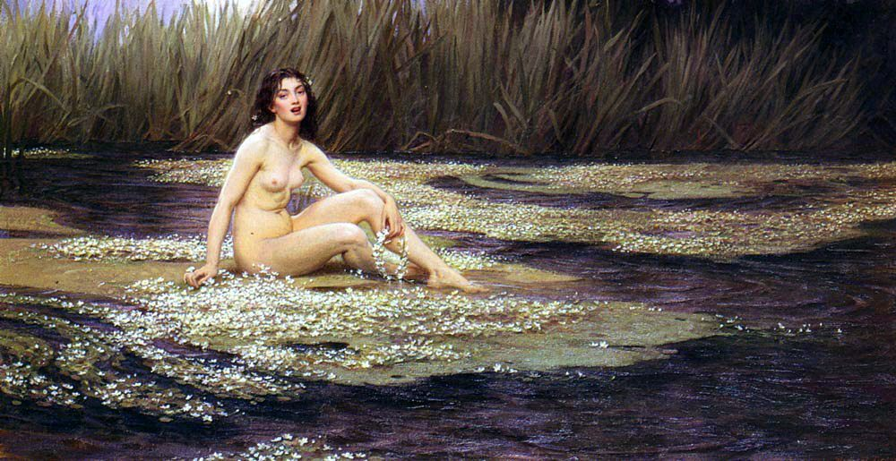 The Water Nymph :: Herbert James Draper  - Nu in art and painting фото