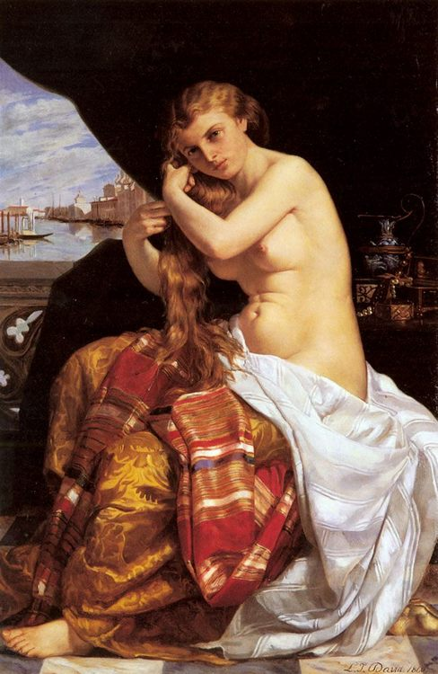Venitienne A Sa Toilette [Venetian Lady at Her Toilette] :: Jacques-Louis David - Nu in art and painting фото
