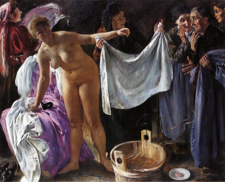 Witches :: Lovis Corinth  - Nu in art and painting ôîòî