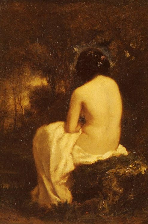 Baigneuse [Bather] :: Narcisse-Virgile Dнaz de la Peсa - Nu in art and painting ôîòî