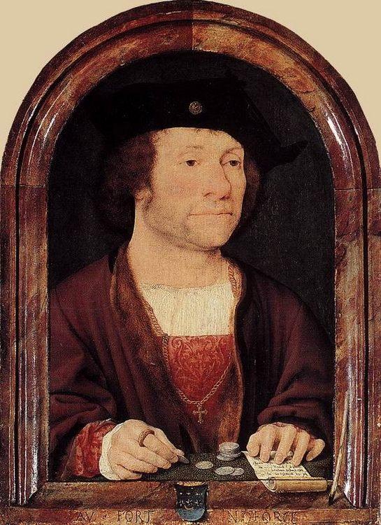 Portrait of Anthonis van Hilten  :: Joos van Cleve  - men's portraits 16th century ôîòî